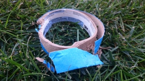 Chewed up tape